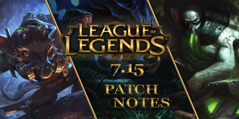 League of Legends – Notas de la versión 7.15