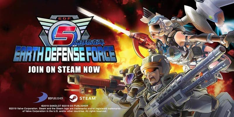 EARTH DEFENSE FORCE 5 ya está disponible