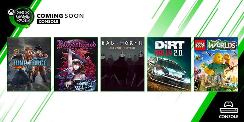 Jump Force, Bloodstained y más, muy pronto en Xbox Game Pass para Consola