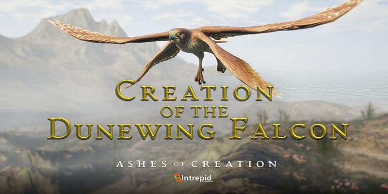 Ashes of Creation sigue enseñando criaturas, hoy toca el Halcón Dunewing
