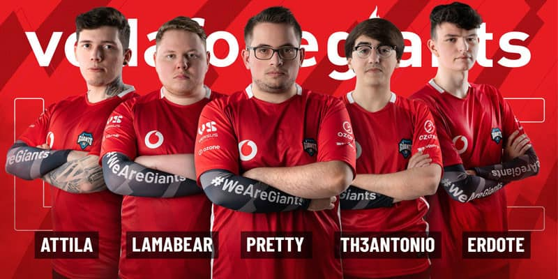 Vodafone Giants presenta su equipo de League of Legends 2020