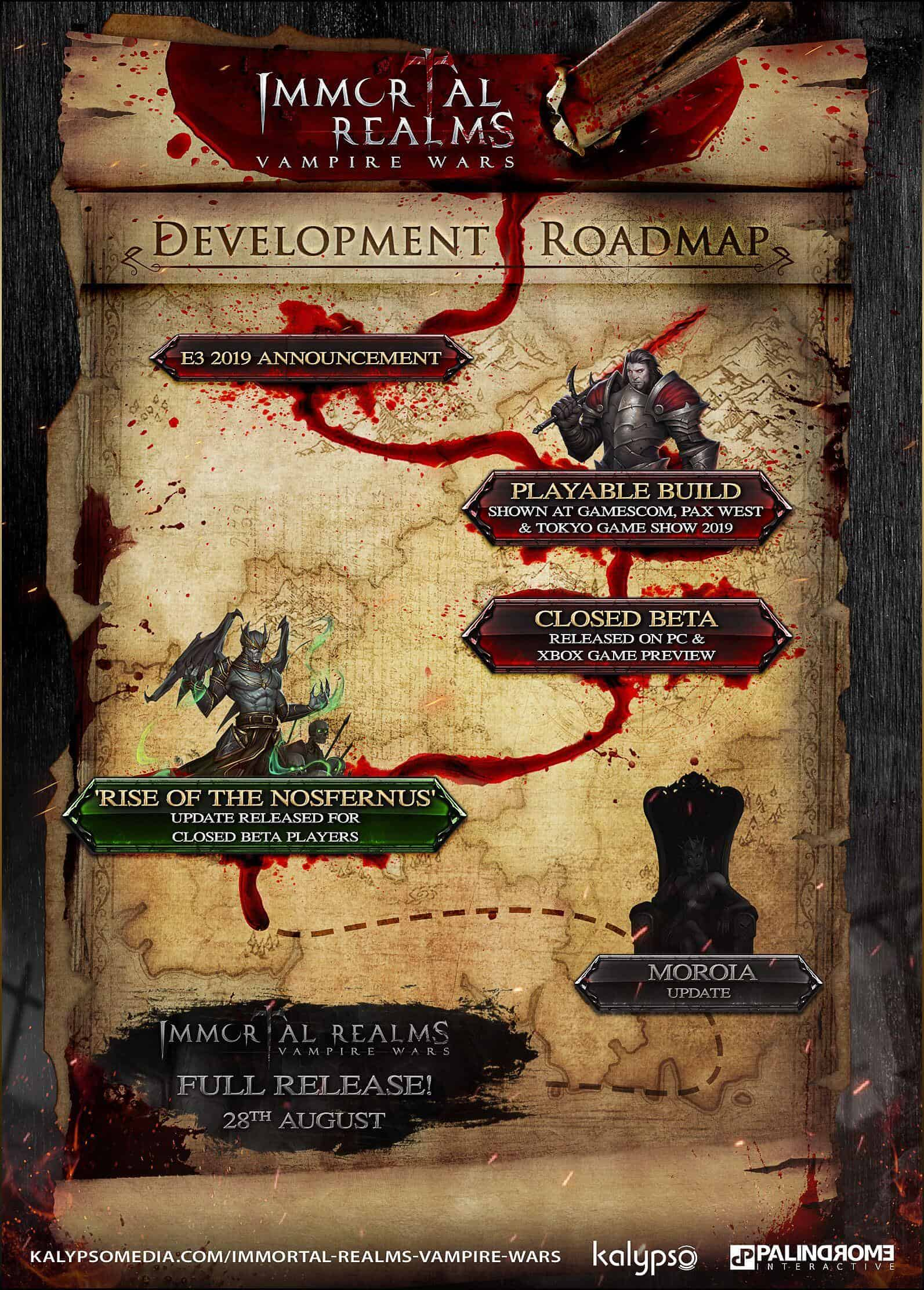 Immortal Realms Vampire Wars Roadmap